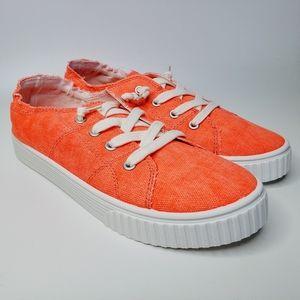 NIB Madden Girl Marisa Bright Coral Shoes